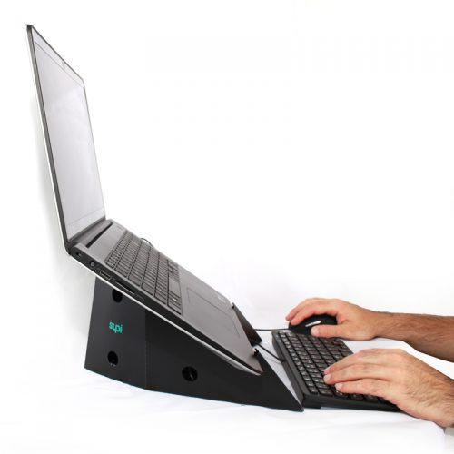 Supi | Suporte de notebook portátil e ergonômico.